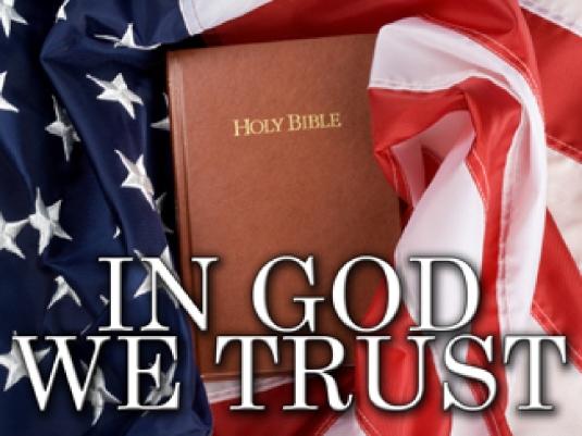 in God we trust - flag
