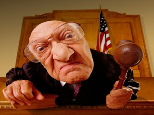 Judge cartoon graphic