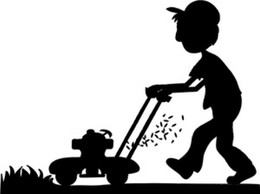 lawnmower - silhouette 1a