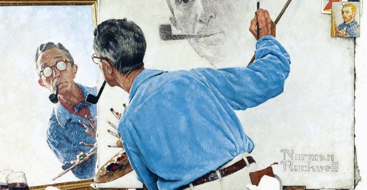 Norman Rockwell self-portrait
