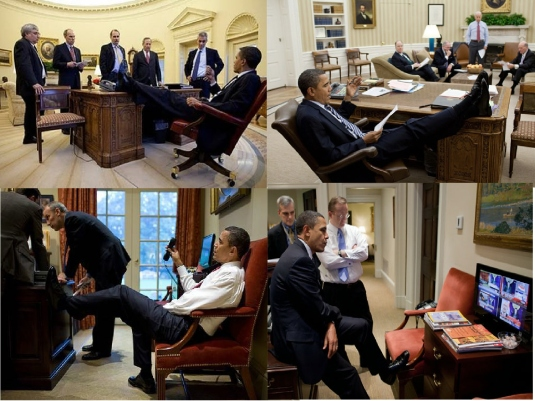 Obama Feet - disrespect 1a