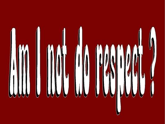 readers forum - not do respect