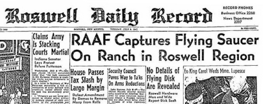 Roswell Dailt Record 1947