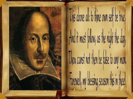 Shakespeare - Hamlet - be true