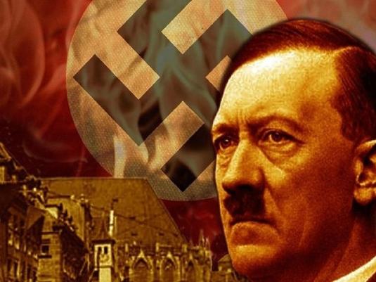 swastika and Hitler