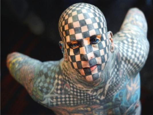 tattooed man one a