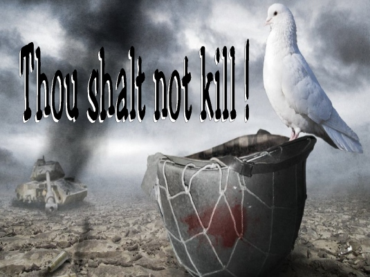 thou shalt not kill - Dove 1