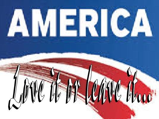 America 1a love it or leave it- te
