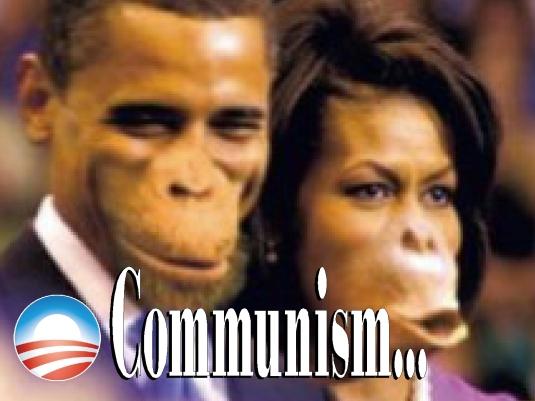 communism ape poster