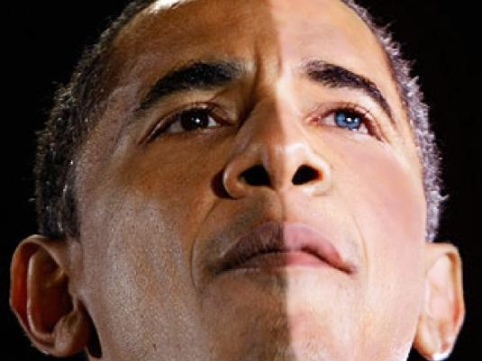 Obama - half-and-half 2a