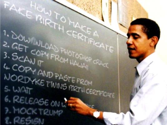 Obama - phony 1a