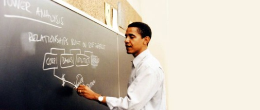 Obama teaching - Chicago