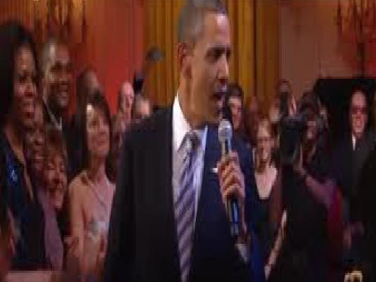 Obama - White House karaoke 1