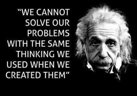 same thinking - Einstein
