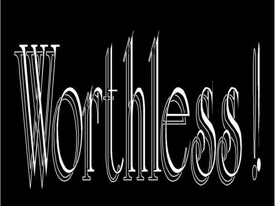 worthless - graphic