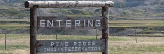 entering Pine Ridge