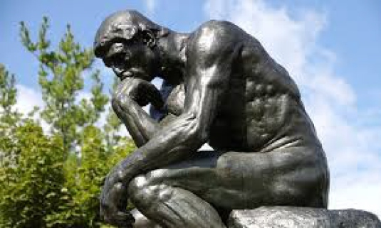 the thinker  - words