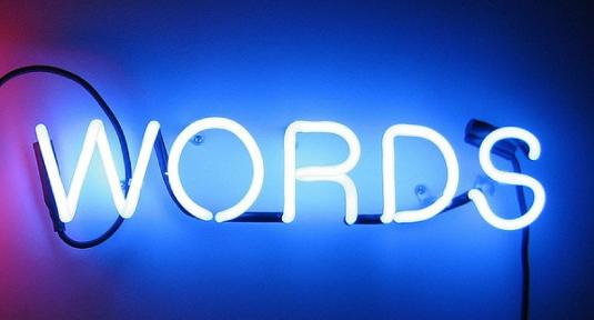 words - neon