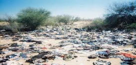 garbage in the Arizona desert