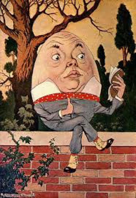 Humpty Dumpty on the wall
