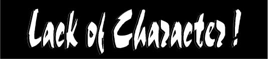 lack of characte 2 r