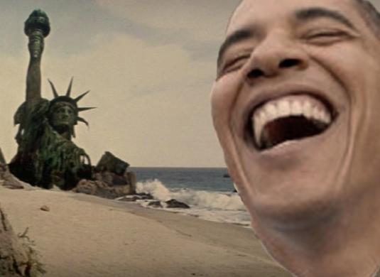 liberty on the beach