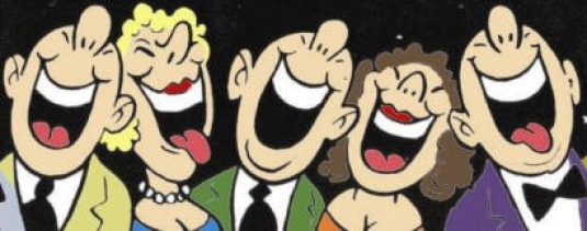 people laughing - cartoon