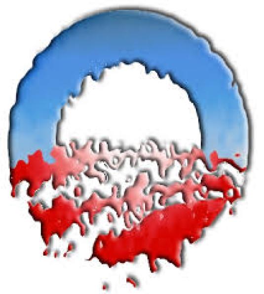 Hollow Man Logo - melting