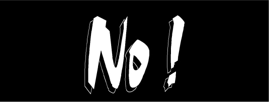 no - on black 2