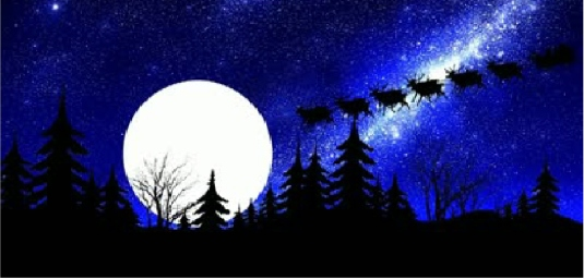Santa and full moon 2