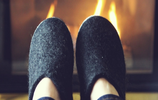 slippers and fireplace 2