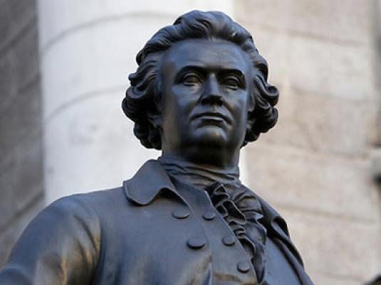 Edmund Burke - statue 1a