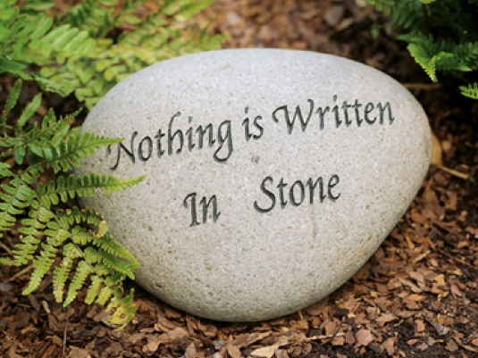 nothing is set in stone 1a