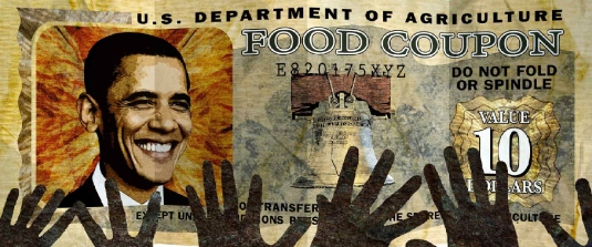 Obama food stamps - hands 2