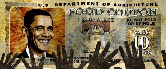 Obama food stamps - hands 2